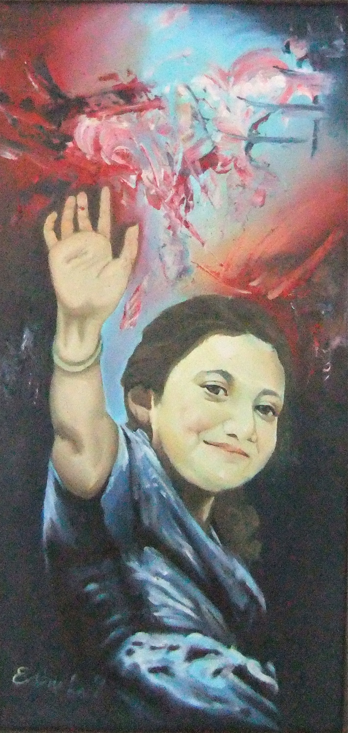 "Editya Lau, ""Salam"" Oil on Canvas, Image R. Horstman"