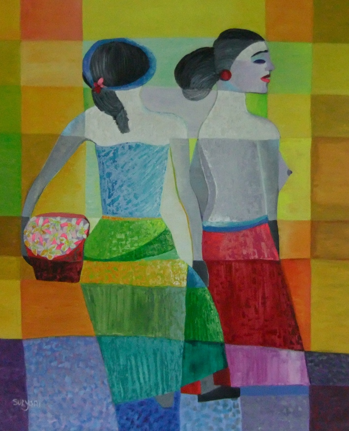 "Suryani, ""Mother & Daughter"" Oil on Canvas, Image R. Horstman"