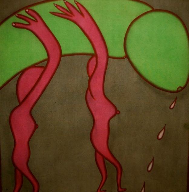 "I.G.A Murniashi, ""Tanpa Judul"", 70x70cm, acrylic on canvas.2003"