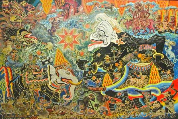 "Lugi Lugiono ""Semar Onthok Onthok"" 180x270cm, 2015"