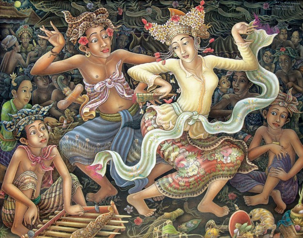 "A.A Gede Anom Sukawati-""Tari Joged Bumbung"". Image courtesy of Larasati"