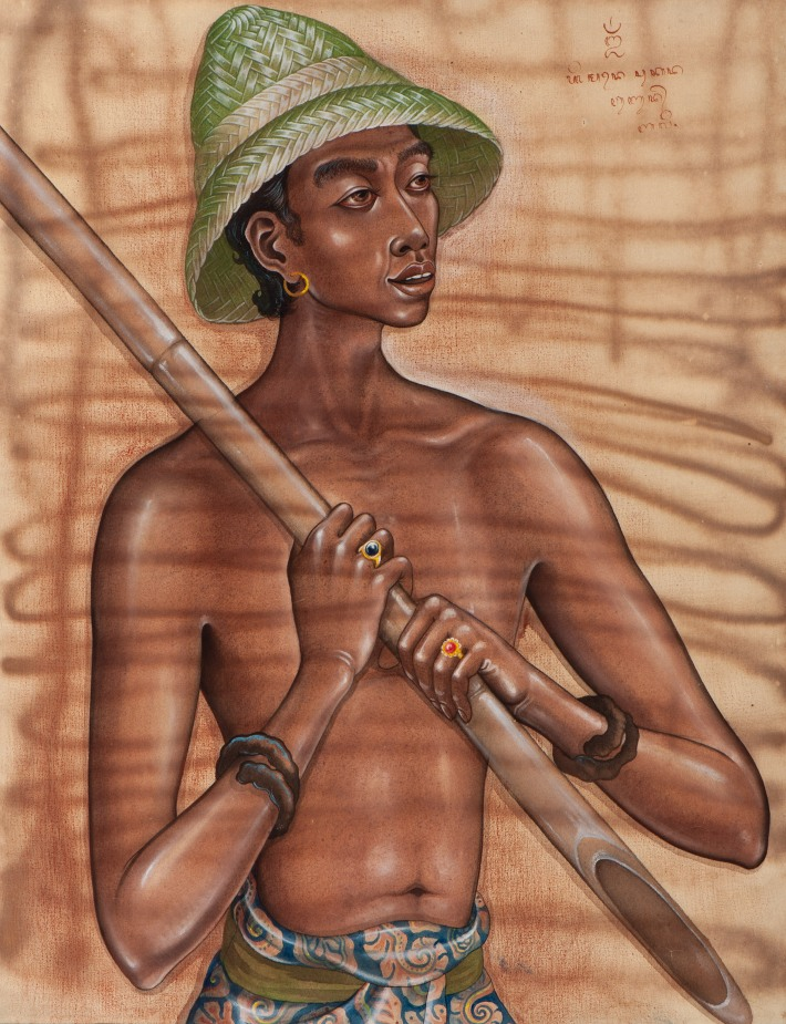 "Made Sukada ""Boy With Bamboo Stick"". Image courtesy of Larasati."