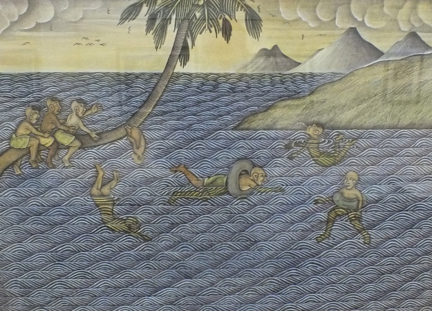 """Swimming in Peacefulness"".Made Griyawan . image by R. Horstman"