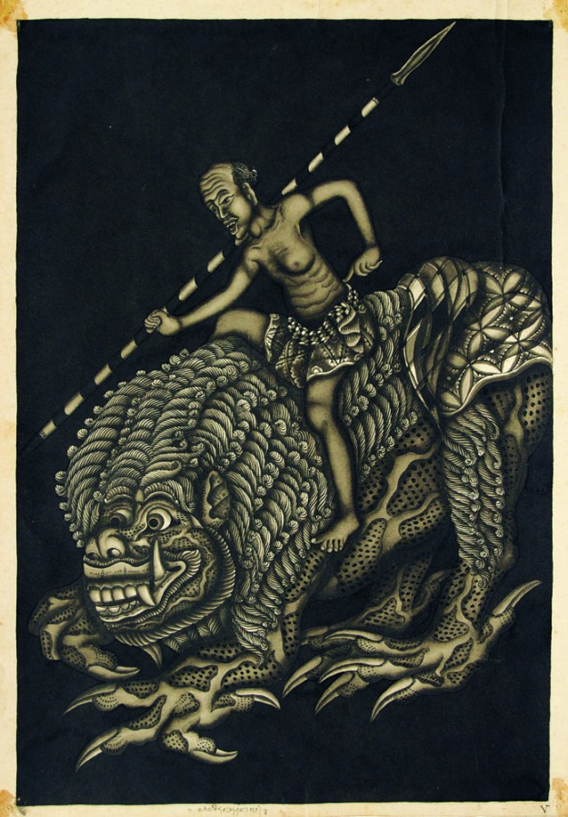 """Patih Lahwel"" Ida Bagus Made Togog.Sold for Rp. 40,000,000. Image courtesy of Larasati"