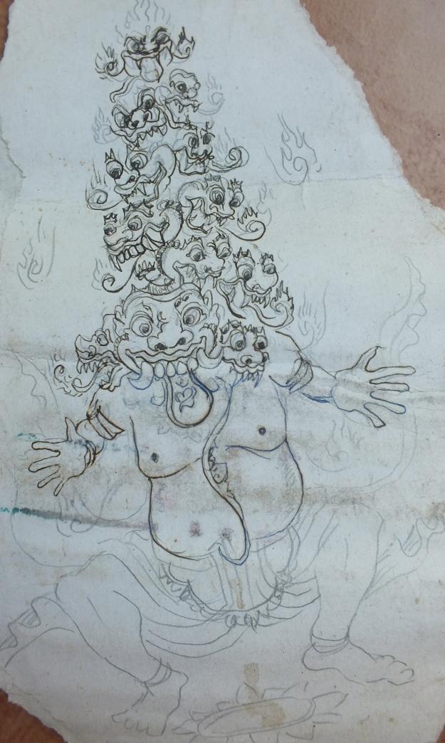 Apel Hendrawan.Pen Sketch, 1979.