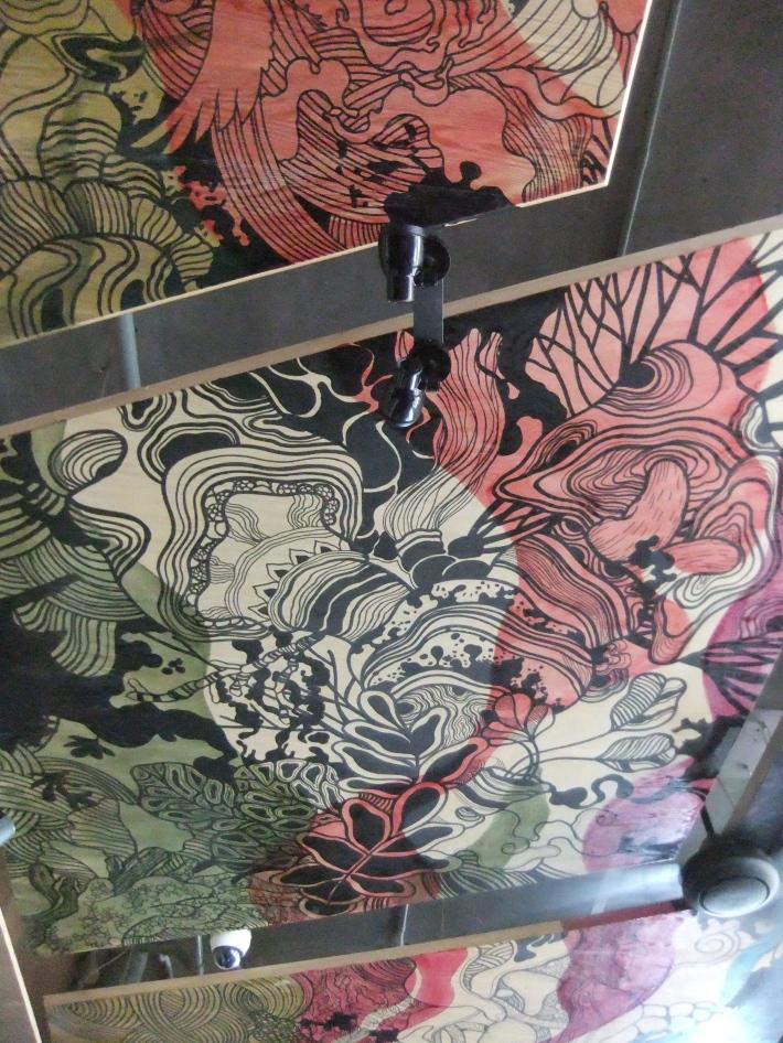 Ceiling decorative panels painted by Kemal Ezedine - Neo Pitamaha