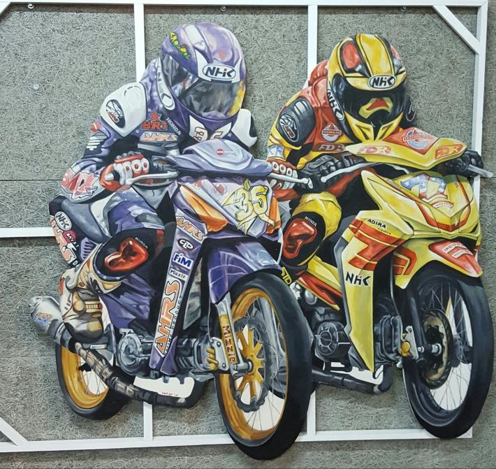 "Gede Jaya Putra 'Rival"" 173x155cm Oil"