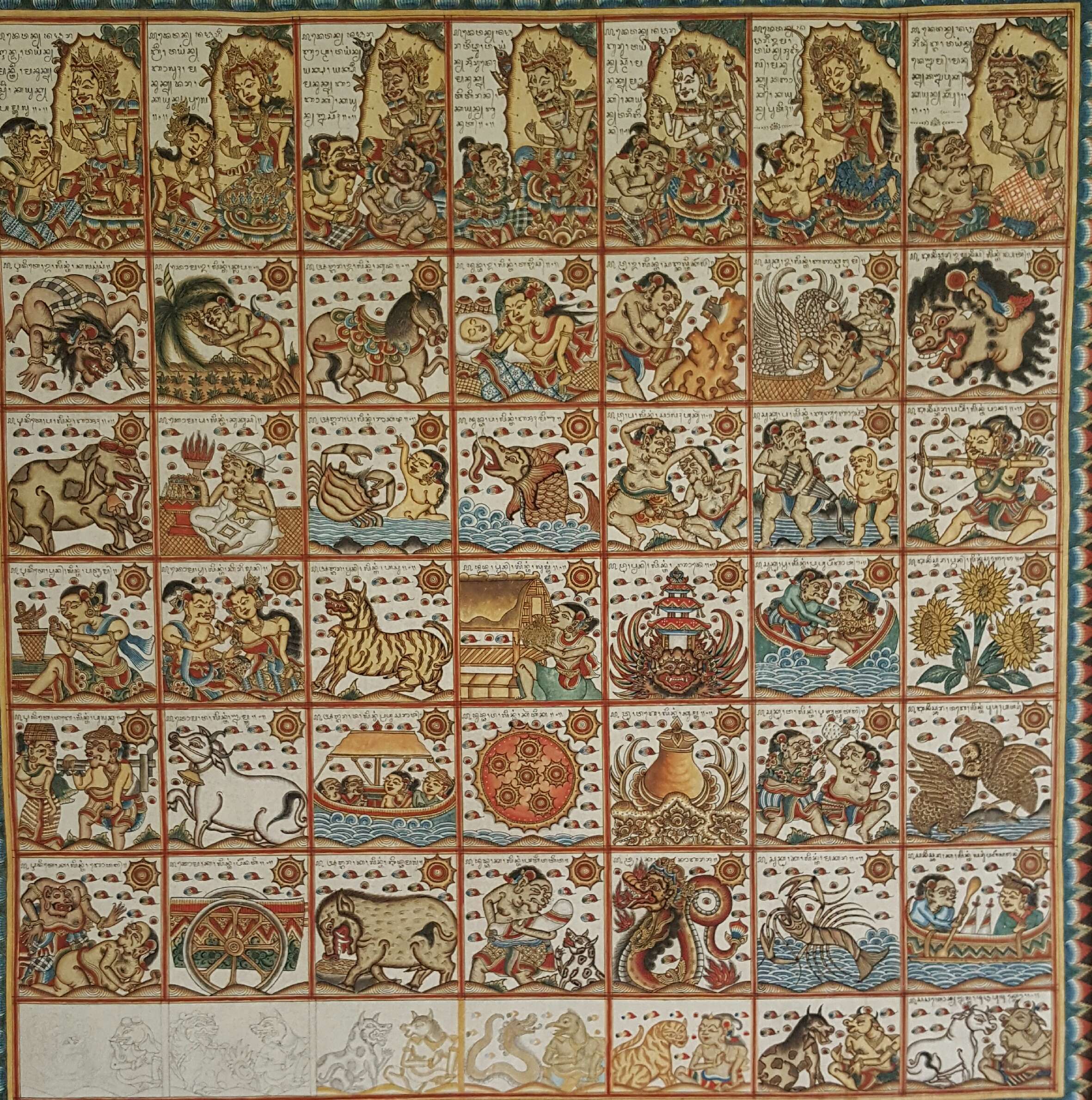 Palalintangan Astrological Chart - Natural Pigments on Cloth