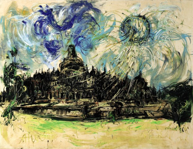 affandi_borobudur-and-the-sun