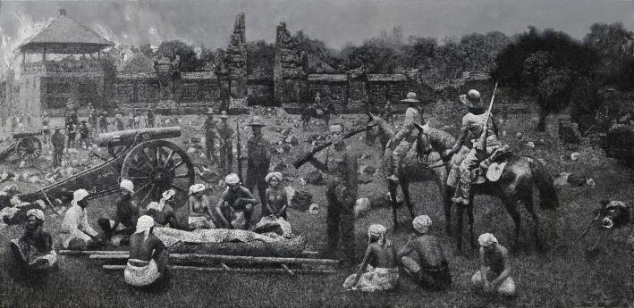 mangu-putra-2015-puputan-badung-the-fall-of-badung-kingdom-1906-oil-on-canvas-190x390-cm