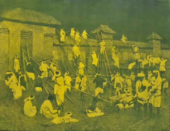 mangu-putra-2015-puputan-badung-the-fall-of-badung-kingdom-3-oil-on-linen-200-x-154-cm