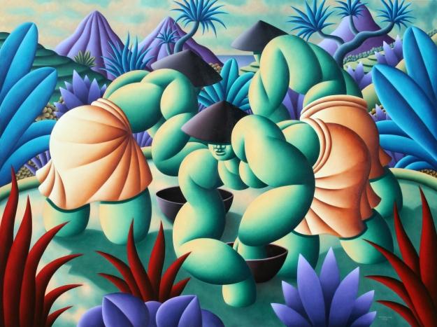 Farmers of the Blue Hills, 150x200cm, 2010. oil on canvas Richar Winkler.