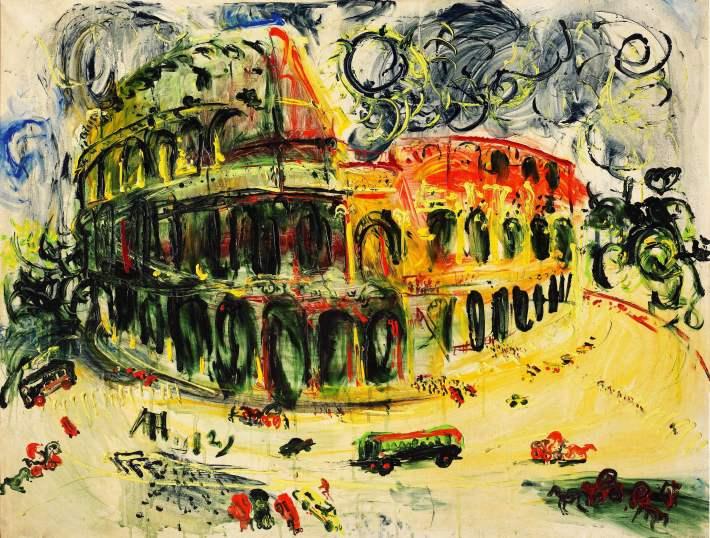 Affandi, Colosseum, Roma.Image courtesy sotheby's HK