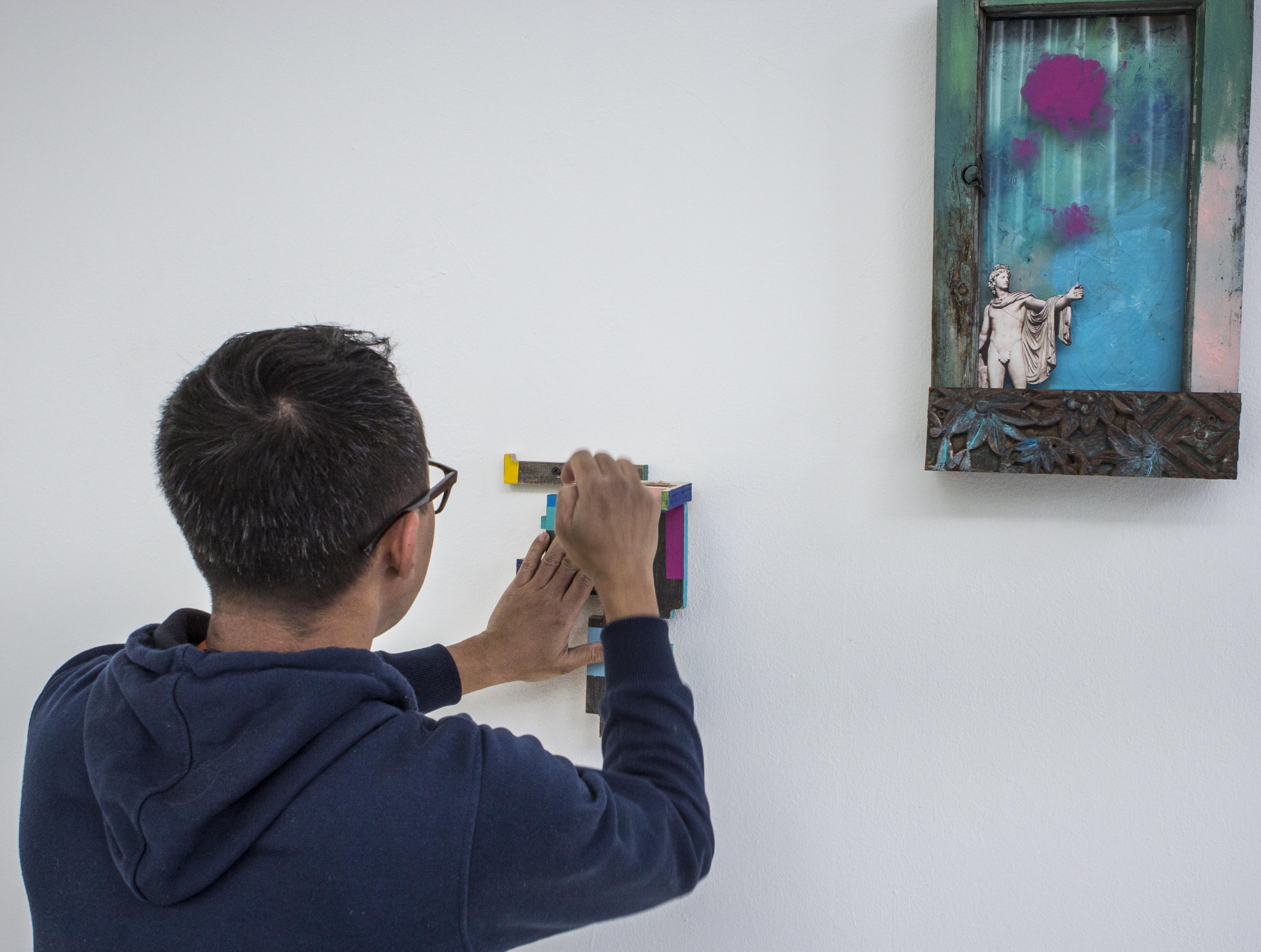Aji Bayuaji at KunsthalLight16 Image by Marcel Kollen