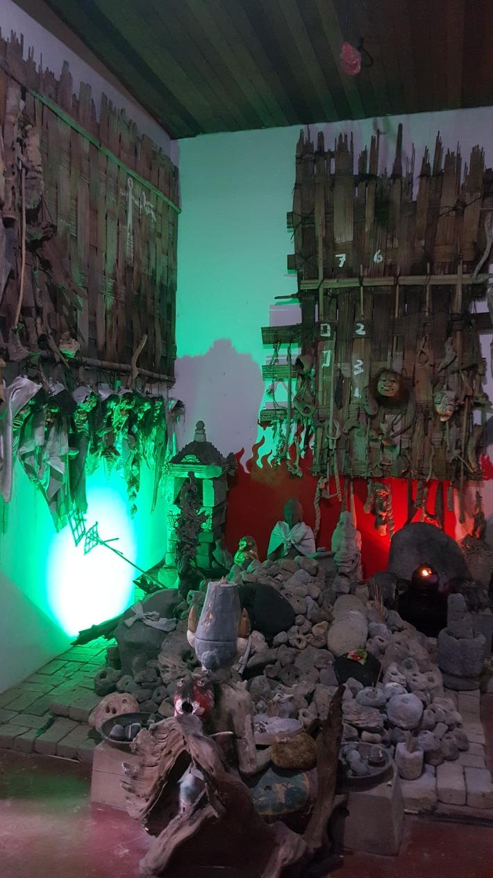 Installation at Djirna's studio.