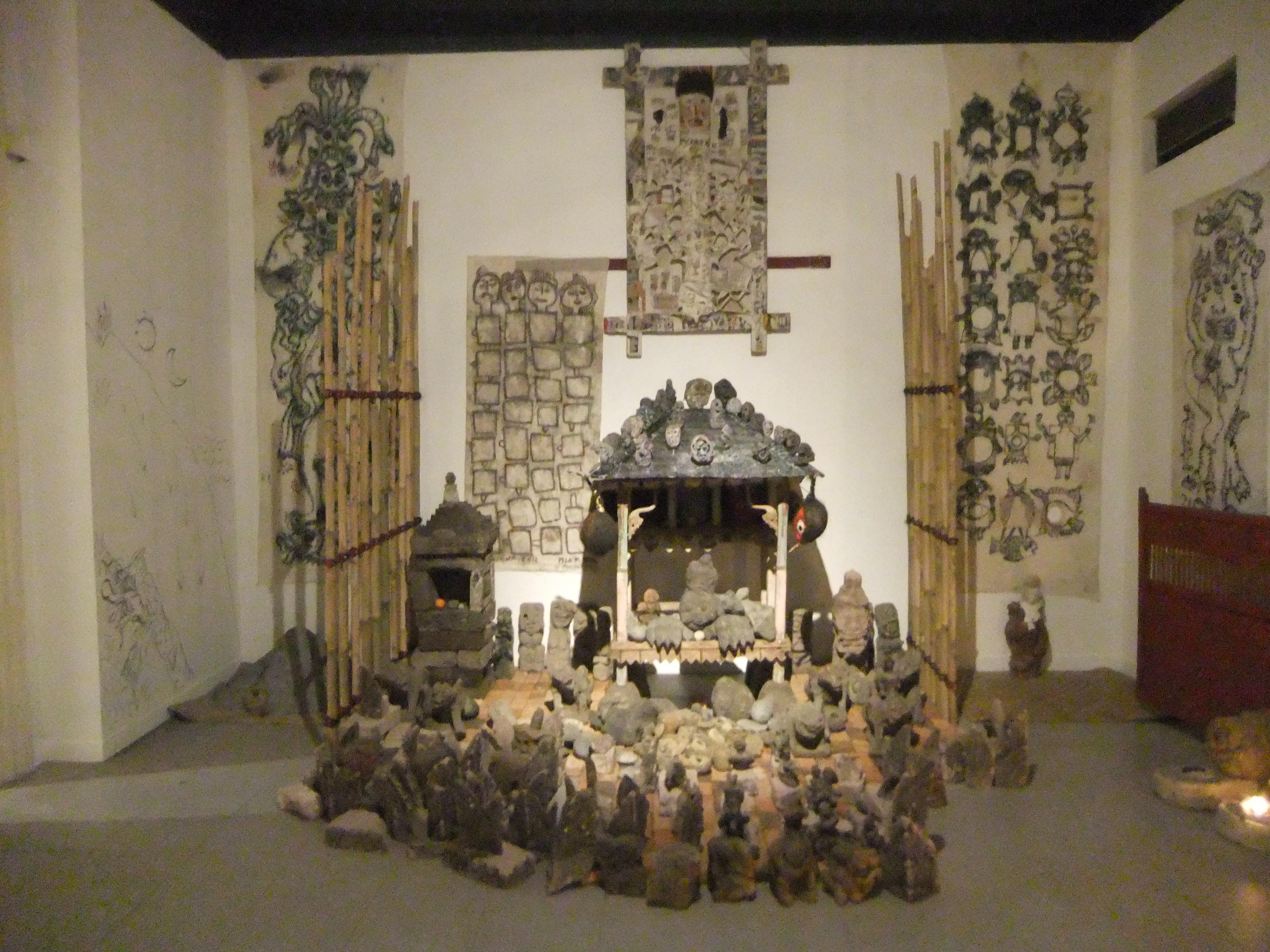 Installation by Made Djirna, mixed media, various dimensions. 2012.Image Richard Horstman.JPG
