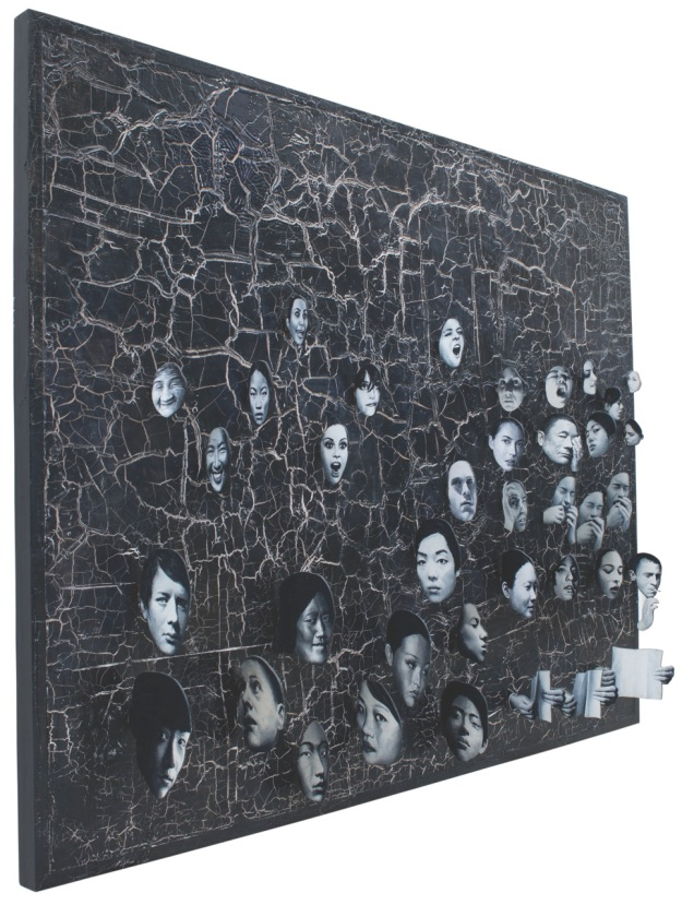 """Lumina Mense"" Filippo Sciascia, Size 205 x 165 cm Mixed Media 2012. Image courtsey of the Artist"