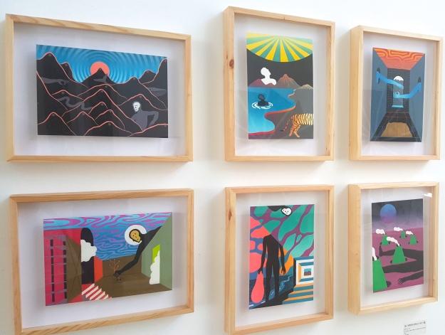 Agung Prabowo - Seven colors linocut print on washi paper, 2017. Jogja Editions Print Fair, Sangkring Art Project. Image R. Horstman