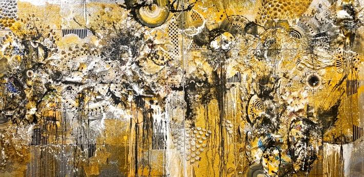 """Shadow Dance"" #18, 2017, 200 x 400 cm. Nyoman Erawan. ""Linkage"" OHD Museum. Image R. Horstman"