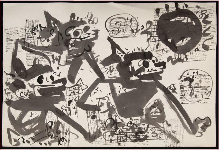 Sketch in black ink- Gunarsa