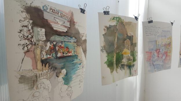 Urban Sketchers Bali presentation for DENPASAR2017 Exhibition, Image by R. Horstman