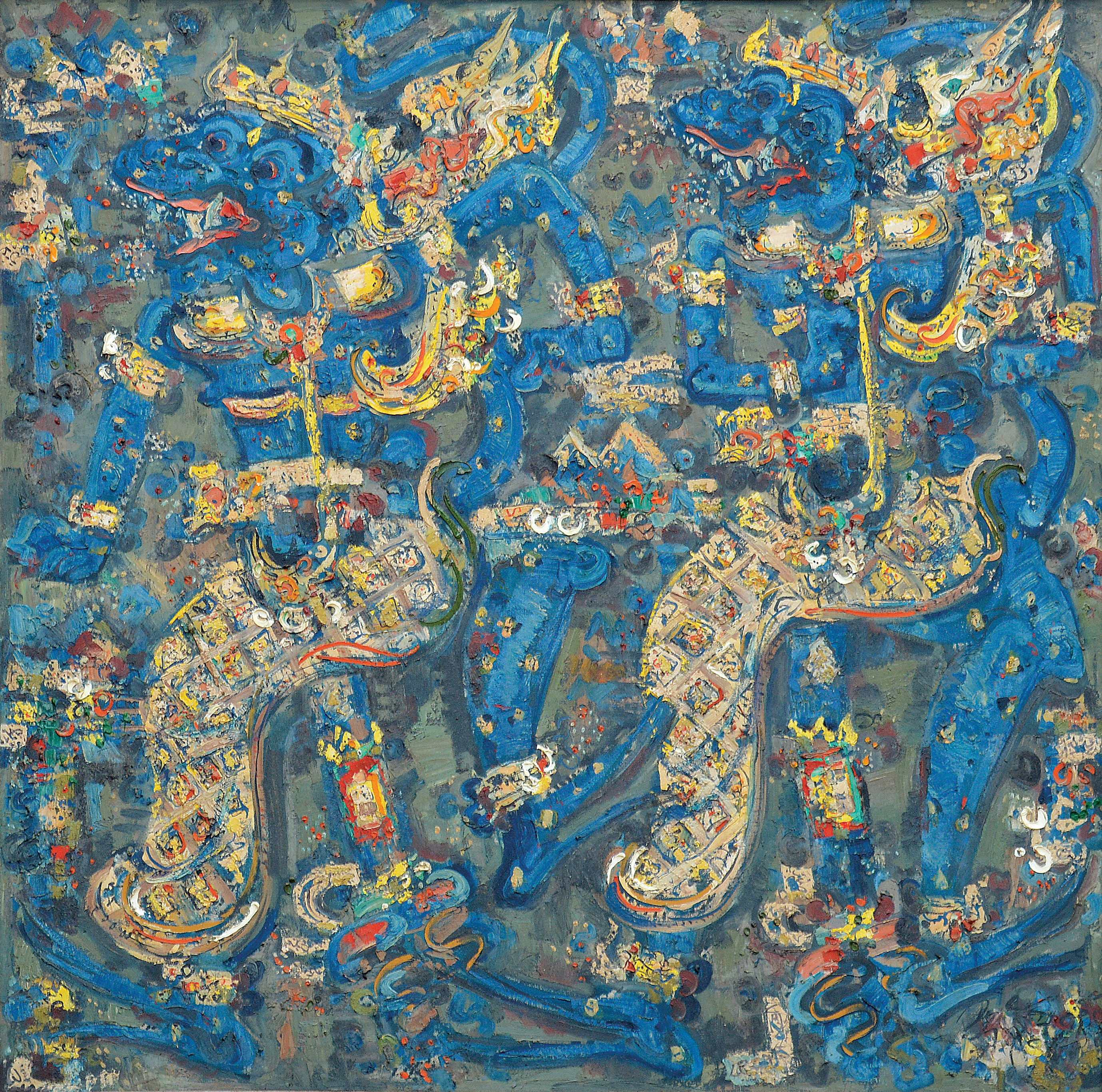 "Lot 559 Nyoman Gunarsa ""Subali & Surgawi"" Image courtesy of Larasati"