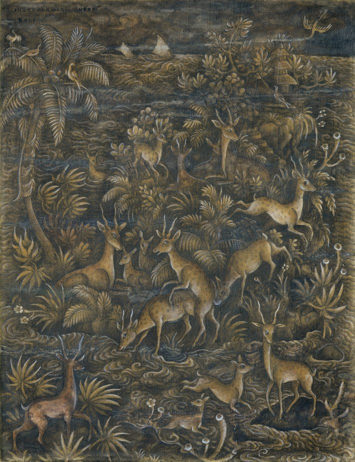 "Lot 579 Ida Bagus Made Poleng ""Kawanan Rusa"" Image courtesy of Larasati"