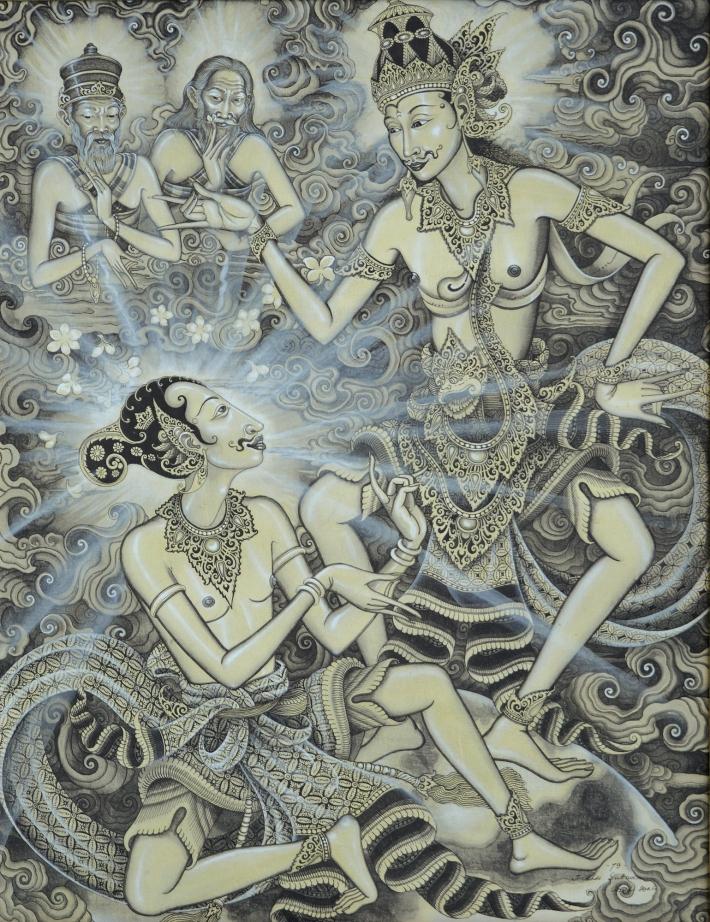 "lot #521 Made Sukada ""Dialog Arjuna dan Kresna"" Image courtesy Larasati"