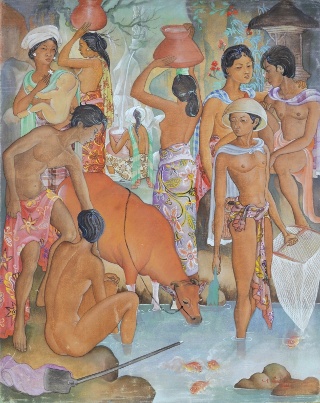 "lot # 580 Made Sukada ""Bali Life"" Image courtesy Larasati"
