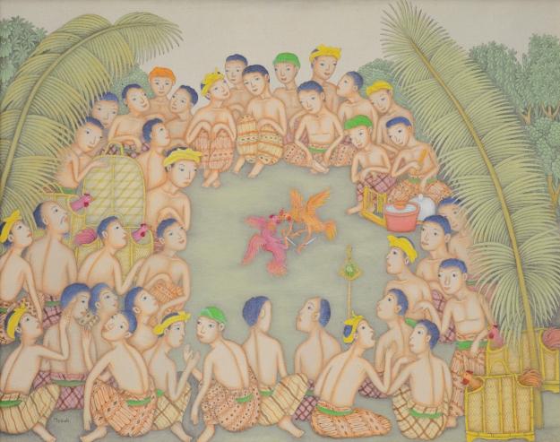 """Lot#553 Dewa Putu Mokoh """"Tajen"""" Image courtesy Larasati"""