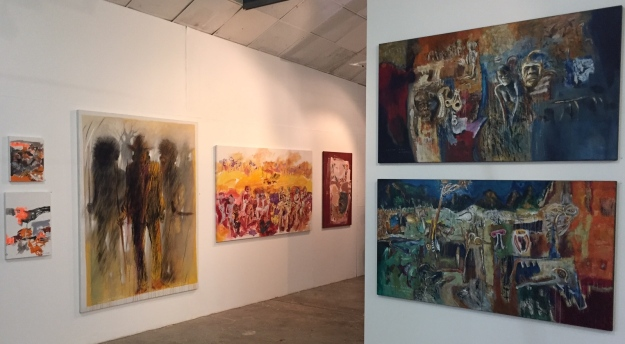 A view of some of the artwork on display at the NCCA
