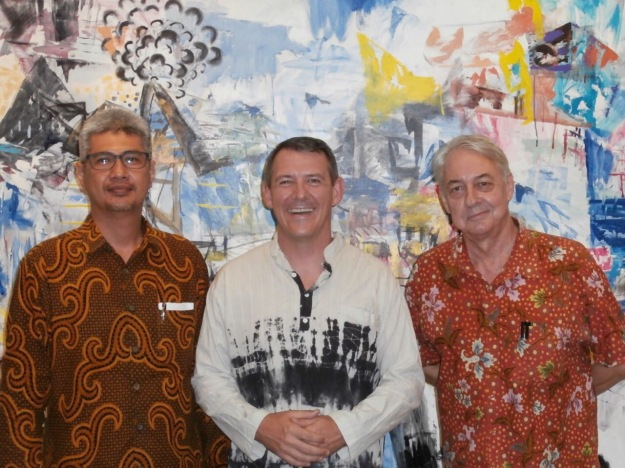 Indonesian Acting Consul Mohhamed Hanifa, the Chief Minister of the NT Michael Gunner and Colin McDonald