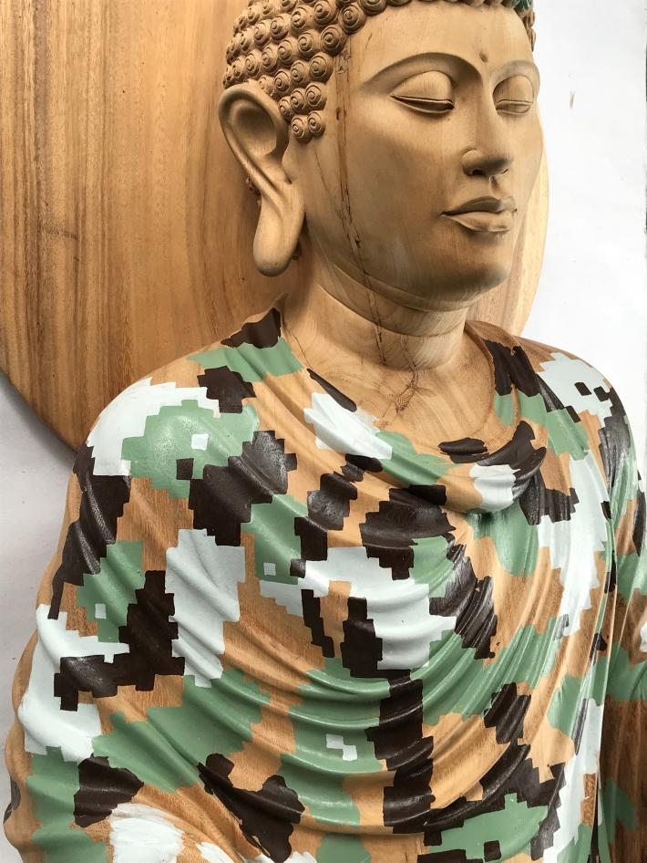 "Rodney Glick ""Pixel Buddha"" image courtesy of apexart Gallery New York"