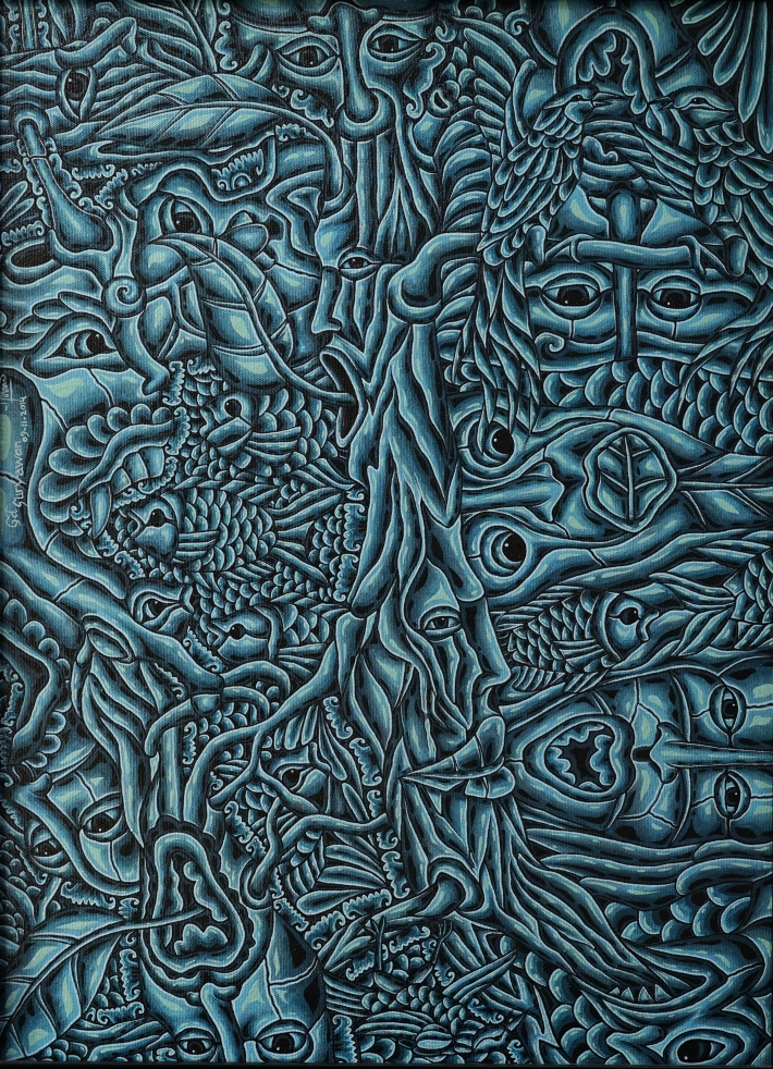 2018-001-D-SURYAWAN EKA PUTRA-DIALOGUE IN BLUE SEASON- 51 X 71 CM