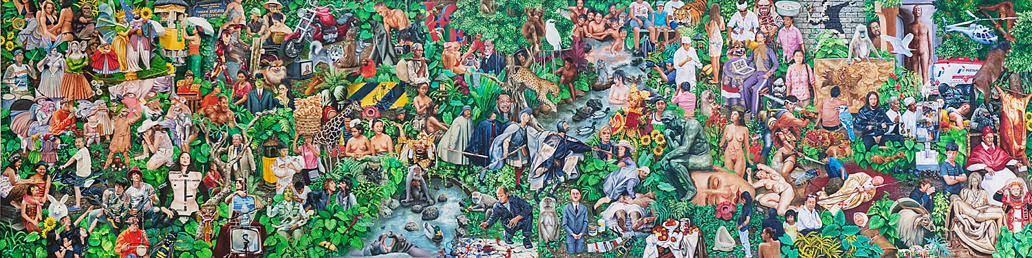 """""""Contemporary Art in Paradise Lost"""" 2012-2014, 300x75 cm"""