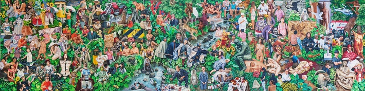 """Contemporary Art in Paradise Lost"" 2012-2014, 300x75 cm"
