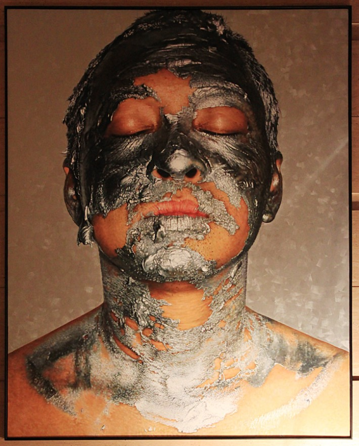 """Silver Acrylic Paint on Face #2"" GMY 2012"