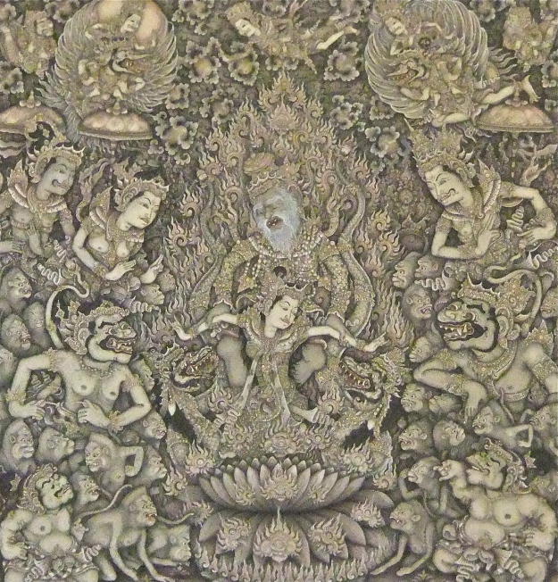 'Sita Satya' Ketut Madra, 103x103cm, Image Richard Horstman
