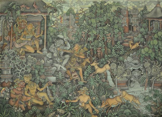 "Wayan Radjin ""Ramayana Membebaskan Dewi Sita"" Image courtesy of Larasati"