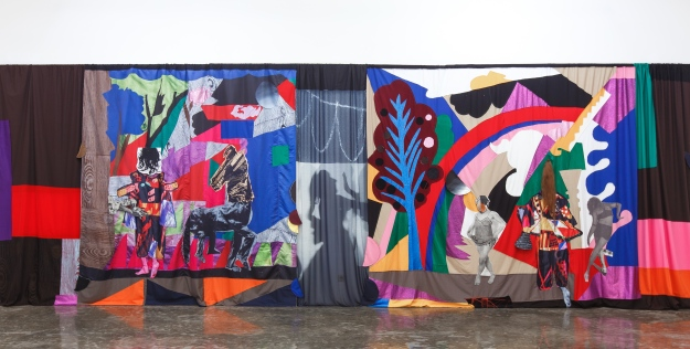 Chout Ballet Curtain, (The Choreography of Cutting) @ Tony Raka Art Gallery - Image Courtesy of Honold Fine Art & Evelyn Pritt