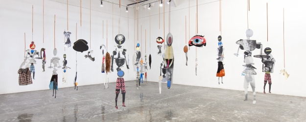Puppets (The Choreography of Cutting) - Sally Smart @ Tony Raka Art Gallery - Image is coutesy of Honold Fine Art & Evelyn Pritt