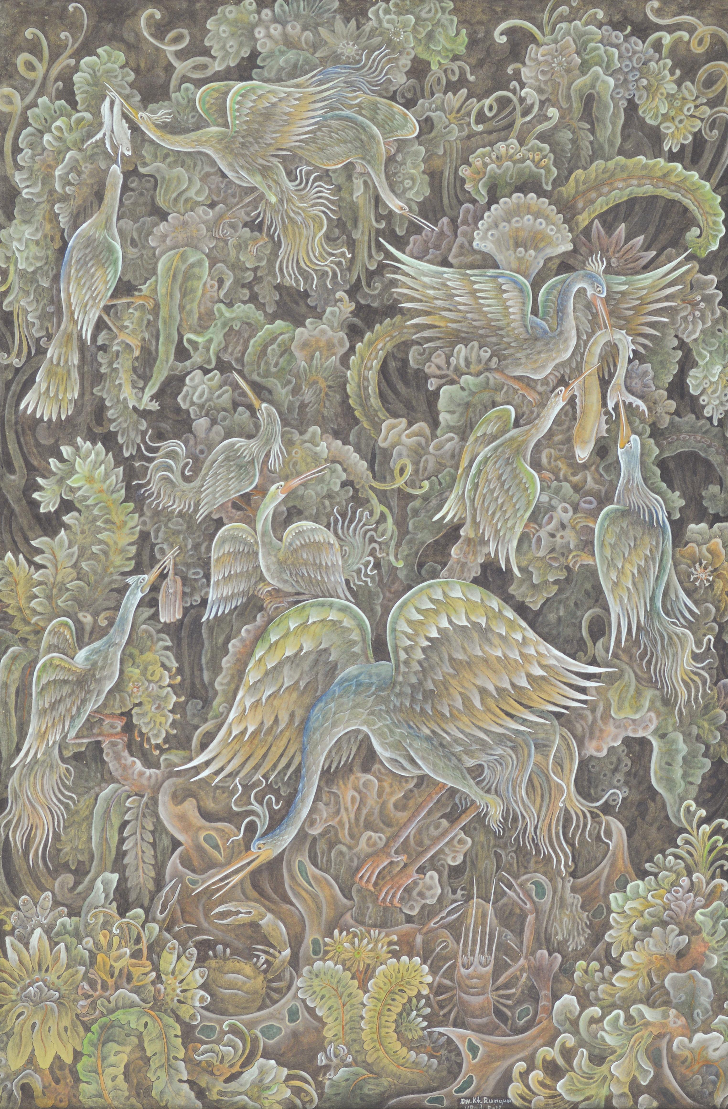 "dewa ketut rungun ""burung burung bangau"" image courtesy of larasati"