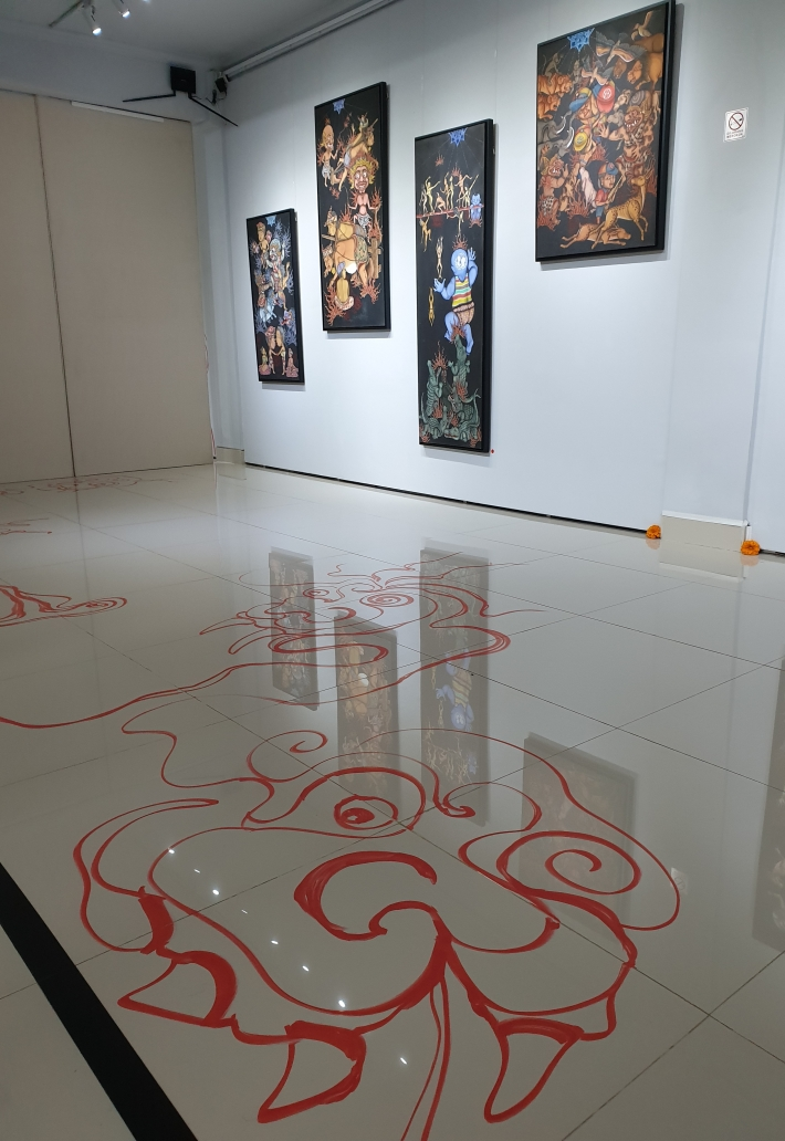 Partial installation view - Hell Sign Image R. Horstman
