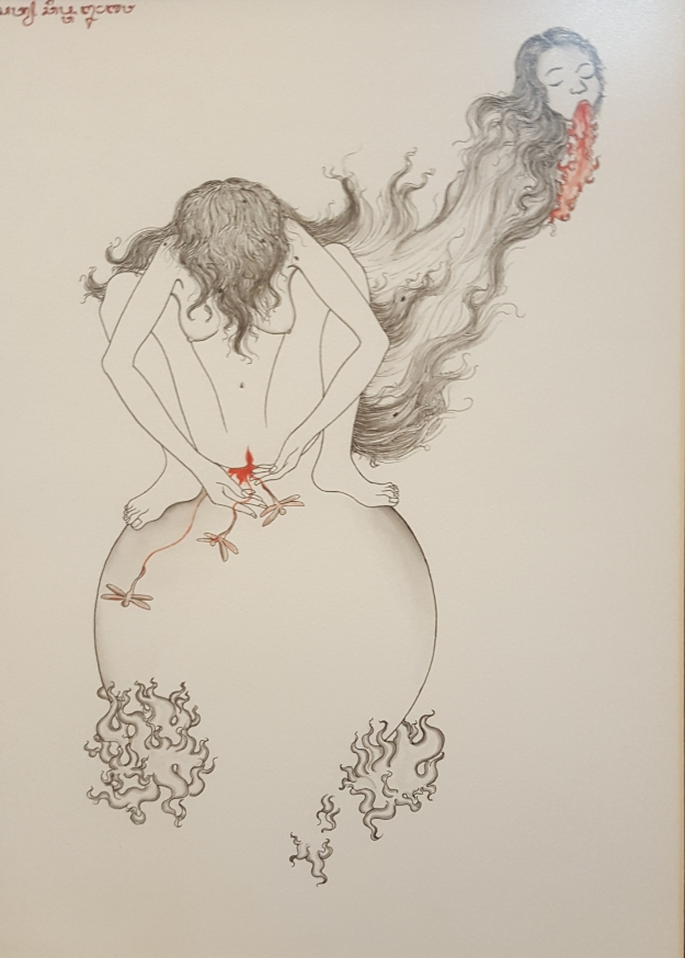 "Satya Cipta ""Spirit"" 2018 chinese ink on hot pressed paper. Image R. Horstman"