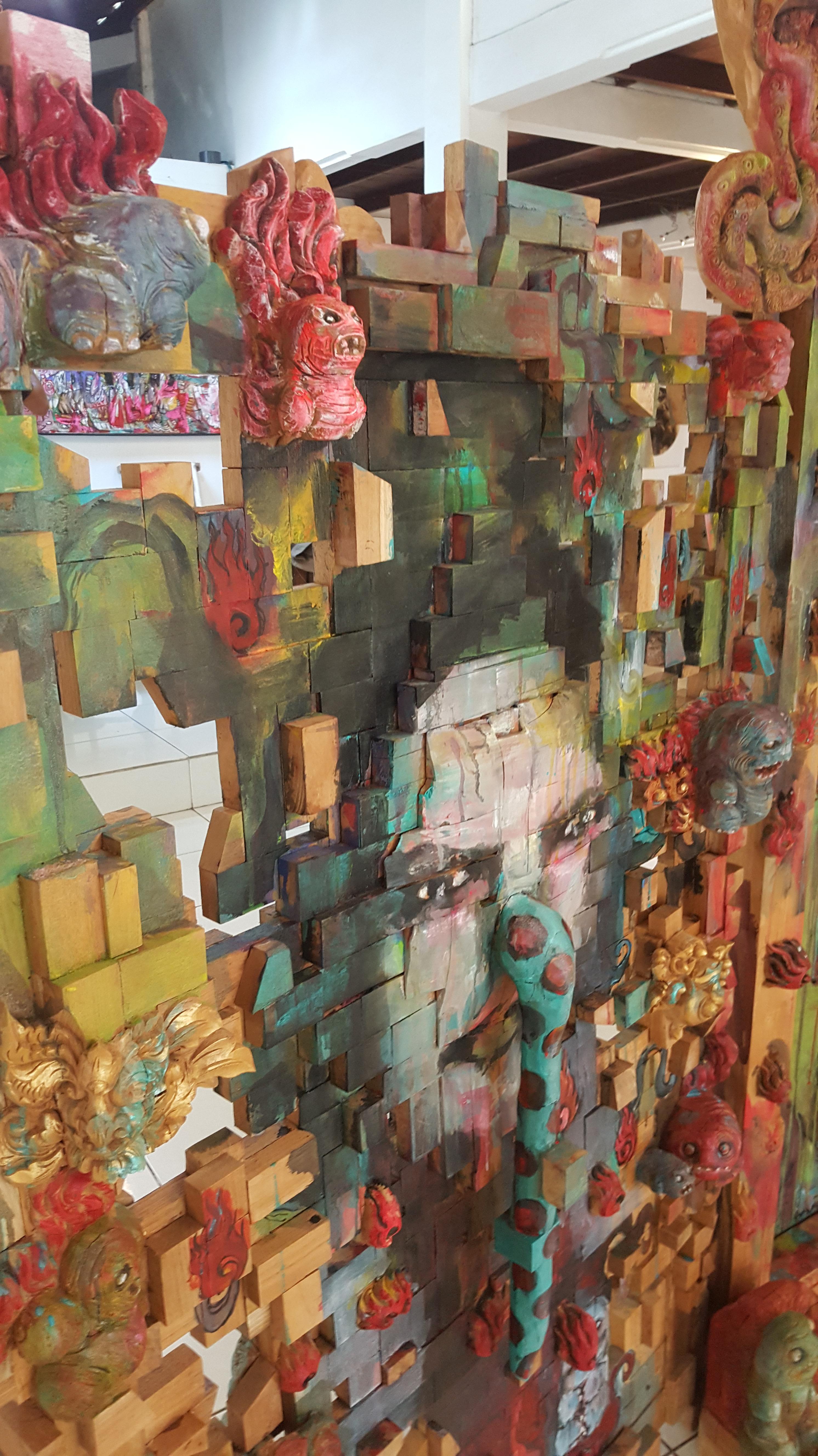 """Detail of """"Doors of Perception"""" Made Aswino Aji. Photo R. Horstman"""