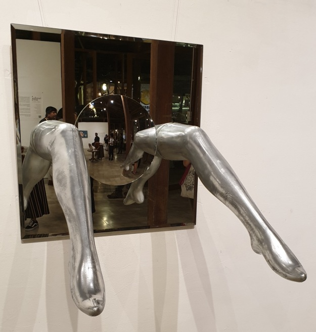 """Res Publica - Security Mirror for Genitalia, 2019, Ni Putu Sridiniari. Image by Richard Horstman"