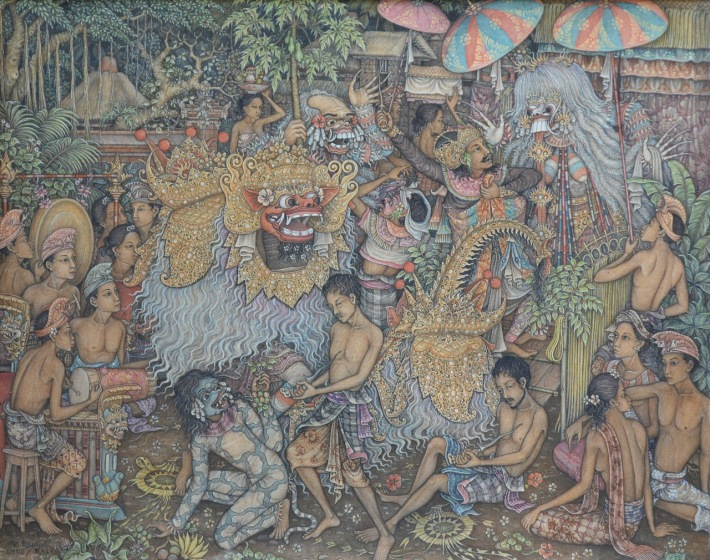 "Lot 619 ""Pementasan Calonarang"" - Wayan Djudjul Image Courtesy of Larasati"