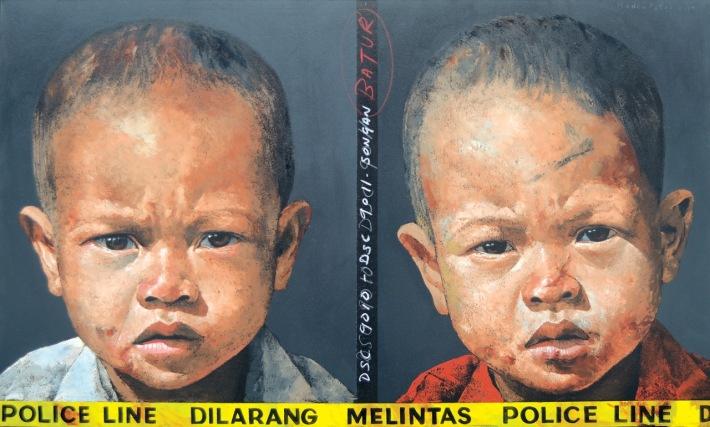 """Lot 637 """"Dilarang Melintas #1"""" - Agung Mangu Putra Image Courtesy of Larasati"""
