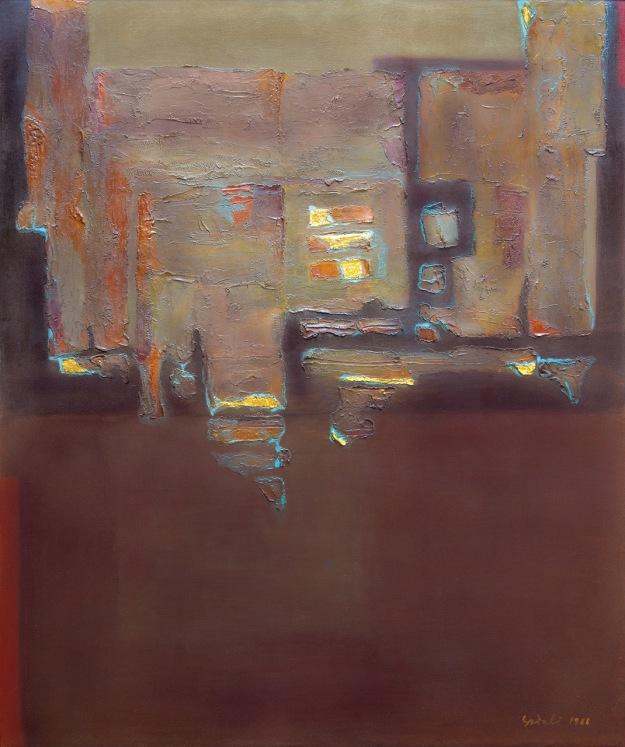 """Lot 644 """"Bidang dengan Bongkah Emas"""" - Ahmad Sadali Image Coutesy of Larasati"""