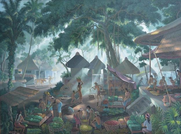 "Lot 716 ""Suasana Pasar Bali"" 2006 I Gusti Agung Wiranata. Image courtesy of Larasati"